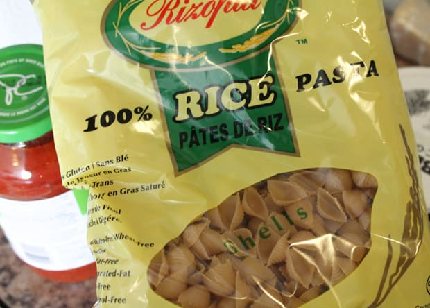 Brown Rice Pasta Shells package