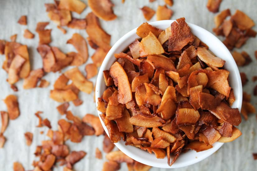 If you are eating meatless and have been missing bacon, I have the solution for you: Coconut Bacon! It is an easy vegan and gluten free recipe and you will love the sweet, smoky flavour. #vegan #glutenfree #recipe