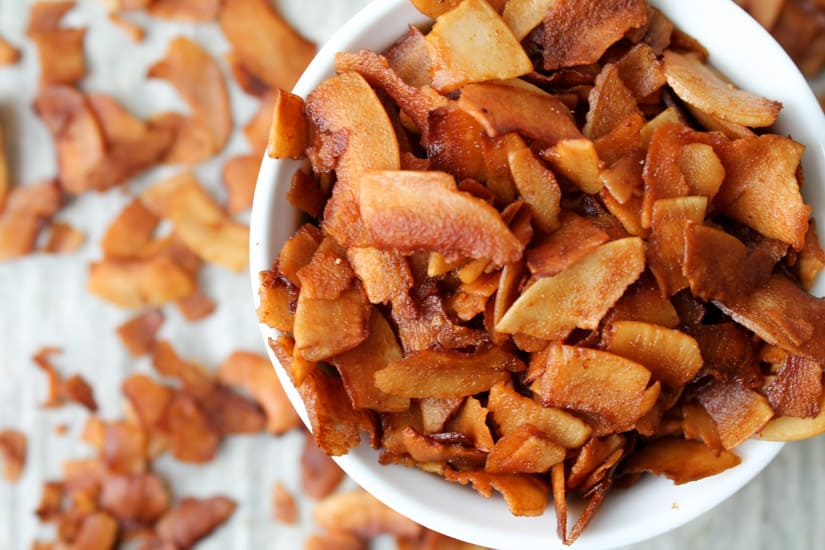If you are eating meatless and have been missing bacon, I have the solution for you: Coconut Bacon! It is an easy vegan and gluten free recipe and you will love the sweet, smoky flavour.