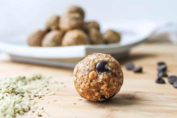 These Hemp Seed Energy Balls are a healthy, gluten free snack featuring hemp seeds & sweetened with local honey. Swap in maple syrup to make this recipe vegan! #healthyrecipes #snacks #healthysnacks #cleaneating #healthylifestyle