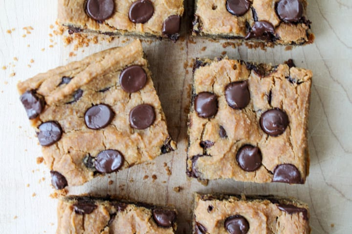 Peanut Butter Chocolate Chip Chickpea Cookie Bars