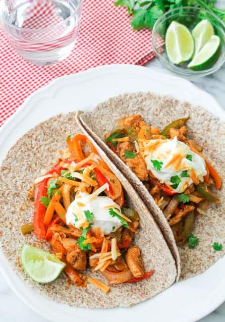 Baked Chicken Fajitas-7