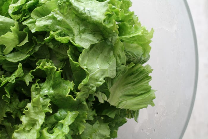 lettuce in a bowl