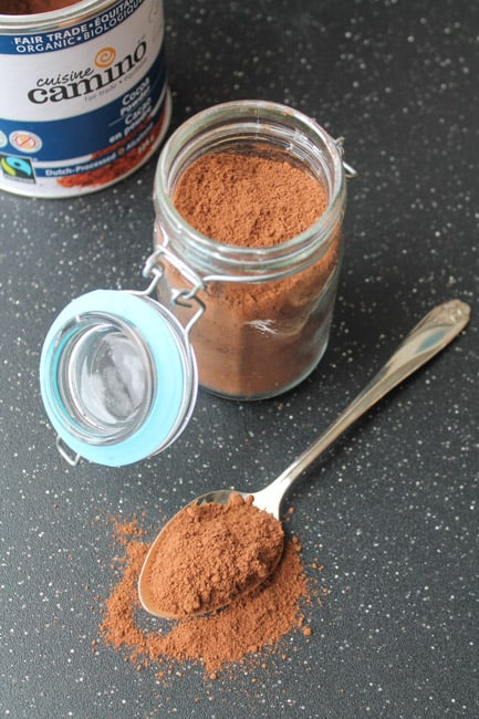 Homemade Hot Chocolate Mix in a mason jar