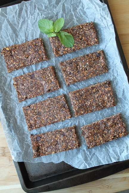 Vanilla Mint Chocolate Protein Bars