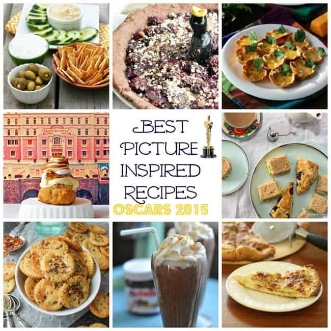 Best Picture Oscar Themed Recipes graphic
