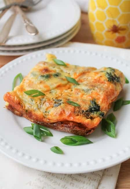 Egg Casserole with Sweet Potato & Spinach