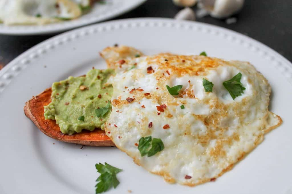 "Eggs & Avocado with Sweet Potato ""Toast"""