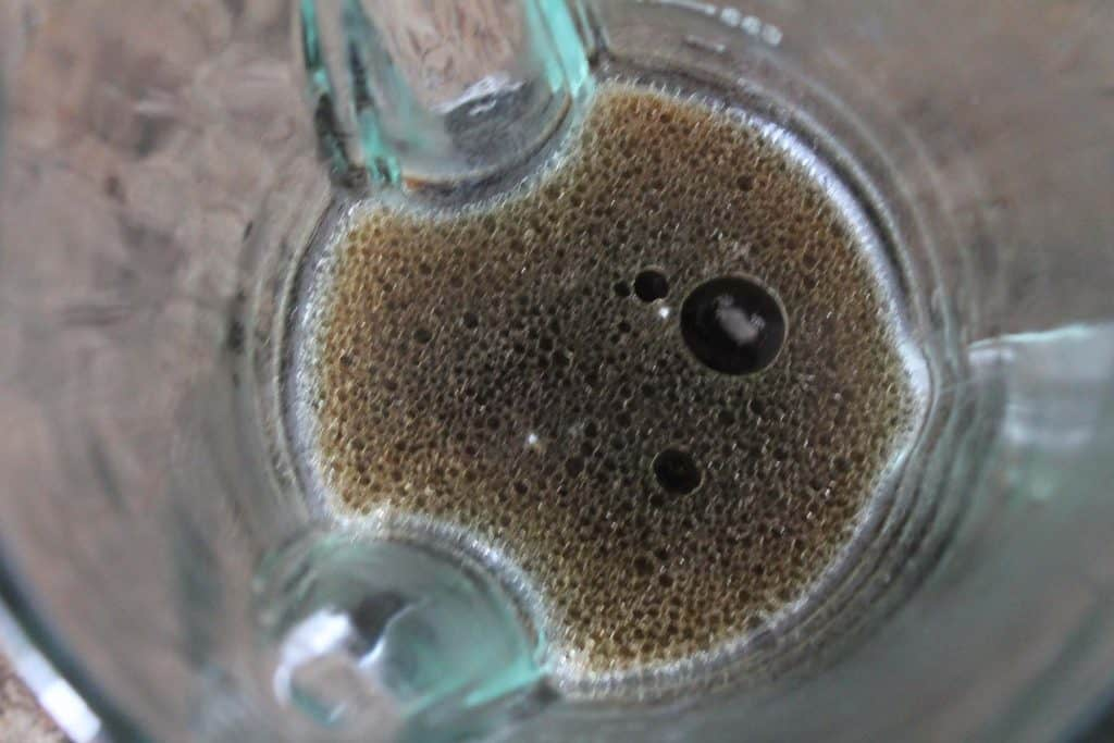 coffee and coconut oil in a blender