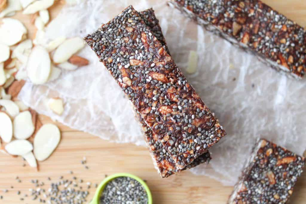 Chewy Chocolate Almond Bars