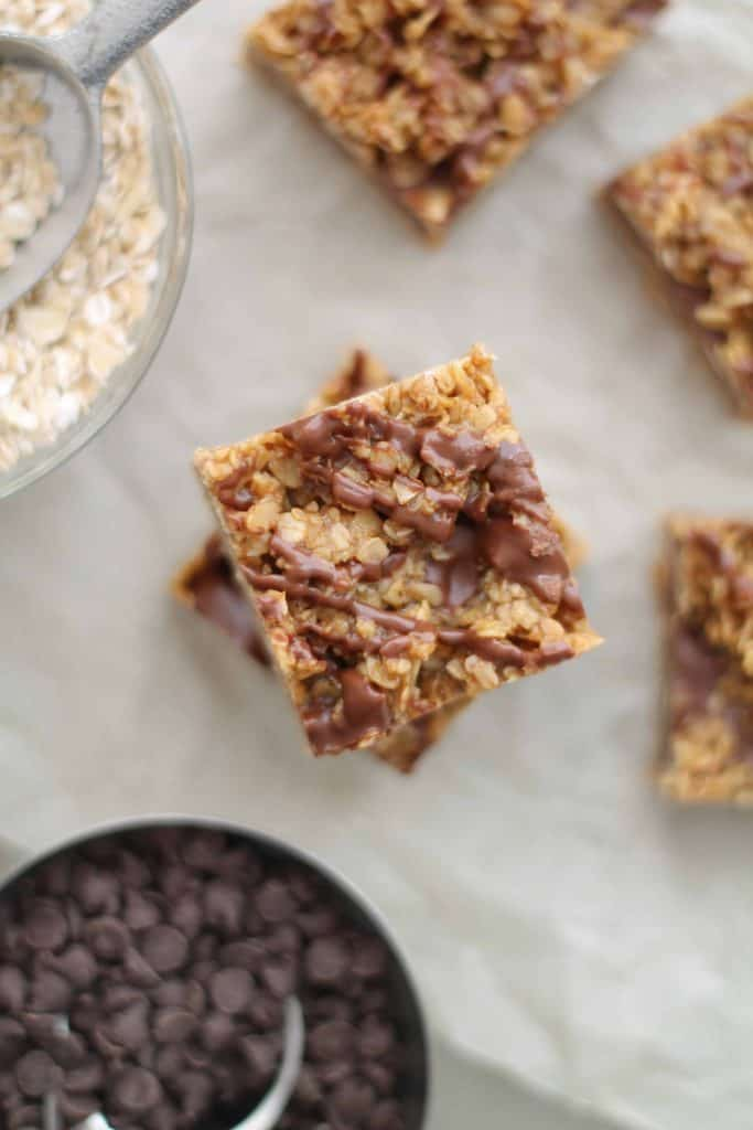 Gluten Free Chocolate Peanut Butter Oat Bars