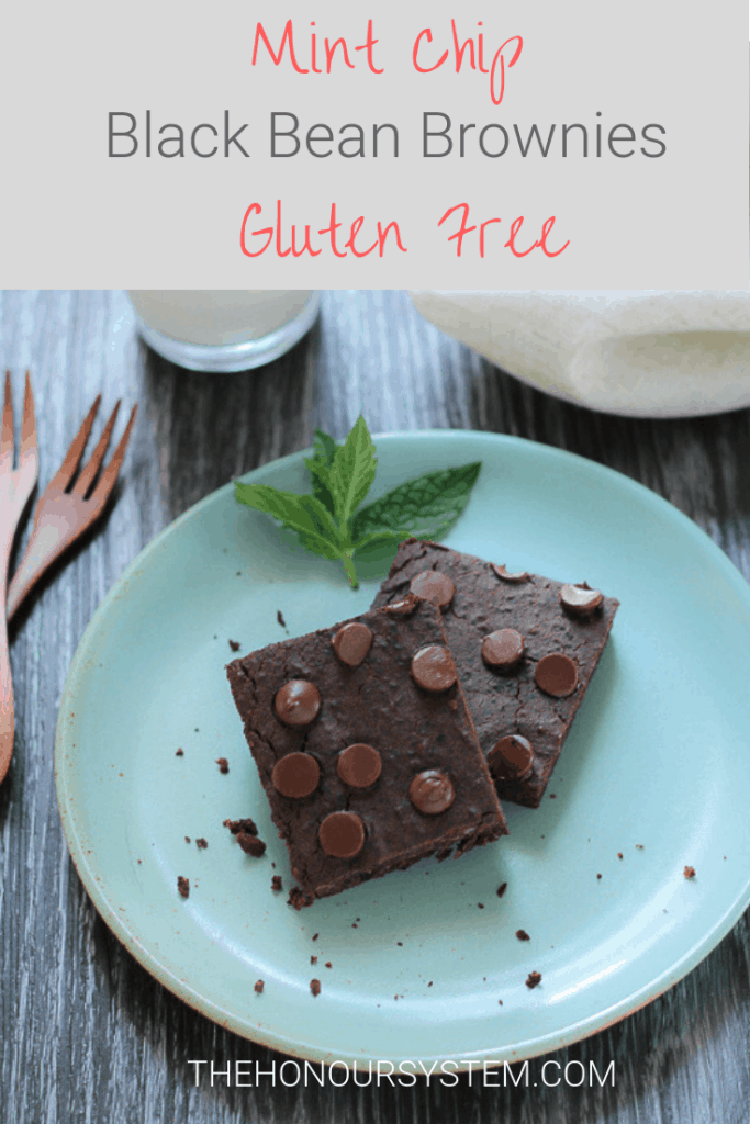 Snappy and cool, these Mint Chip Black Bean Brownies are a protein packed, deliciously gluten free treat that everyone will enjoy. #glutenfree #recipe #healthyrecipes